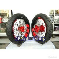 Sepaket Velg SuperMoto Super Moto Honda CRF 150 L Plus Ban IRC Swallow