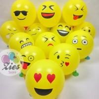 Balon latex emoticon / balon latex emoji 12inch perpack isi 100