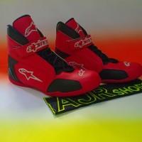Sepatu drag alpinestar New merah hitam