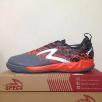 Sepatu Futsal Specs Metasala Warrior Dark Granite Orange original