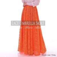 Rok Panjang Muslimah Murah Lace Umbrella Skirt / Rok Payung Brokat