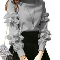 Baju Atasan Blouse Wanita Saviana Blouse Bahan Twiscone