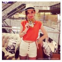 Baju Atasan Wanita Orange casual Import Original