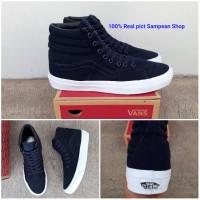 Sepatu Vans Sk8 Hi high Mono Dress blue White Original Premium Import
