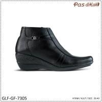 Sepatu Formal Pantofel Boot Ankle Wedge Wanita | GLF-GF-7305