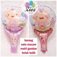 Balon foil pentungan / balon tongkat karakter baby girl