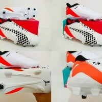 Sepatu Bola Puma Future Boots FG Grade Ori NetFit ( White Black)