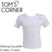 Kaos dalam Jumbo Crocodile  Big size   kaos oblong pria Putih   O neck