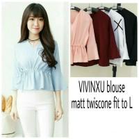 Atasan Blouse Wanita Vivinxu Blouse Baju Kantor Kerja Fashion Twiscone