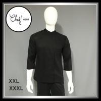 Chef Wear Baju Koki Hitam Komb Net XXL-XXXL (Bis Hitam)
