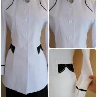 terbaru BIG SALE Baju atasan Blazer seragam putih PNS WANITA kerja