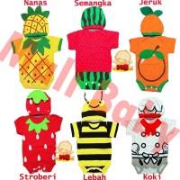 TERLARIS ! Jumper Bayi Karakter Lucu Kostum Bayi Set Topi Termurah