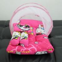 kasur bayi kelambu lipat/karakter hellokitty/selimut/bantal guling