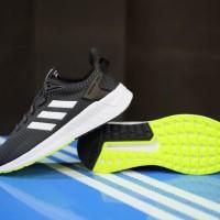 ORIGINAL Sepatu Adidas Neo Cloudfoam Questar Ride Black White Green