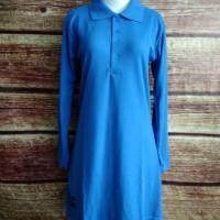 Baju Kaos Krah Polo Tunik Muslimah Panjang BIREL olahraga uk S - XL.