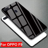 GLASS CASE OPPO F9 HARD BACK CASE