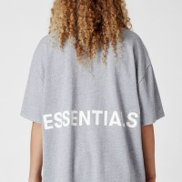 Fear Of God Essentials Boxy Graphic T-Shirt - Grey 100% Original