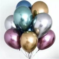 Balon Latex / Lateks Chrome Size 12 inch