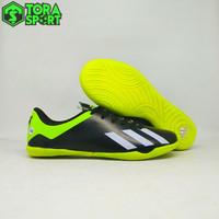 Sepatu Futsal Anak Adidas X 18+ Hitam Hijau Stabilo List Putih Terbaru