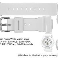 TALI BAND STRAP CASIO BABY-G ORIGINAL BA-110 BA-111 BA120 PUTIH