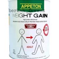 SUSU APPETON WEIGHT GAIN DEWASA COKLAT 900 GR - SUSU APETON
