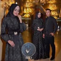 Busana Muslim Baju Couple Pasangan Terbaru Copel Raswa Hitam Murah
