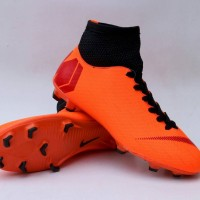 sepatu bola dewasa nike mercurial M high orange black 39-44 import