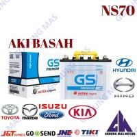 Aki Mobil NS70 Batre Battery Accu NS 70 Baterai GS Premium Astra