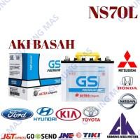 Aki Mobil NS70L Batre Battery Accu NS 70 L Baterai GS Premium Astra
