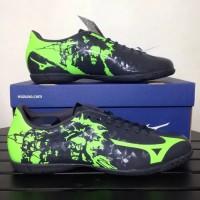 Sepatu futsal mizuno ryuou in original black green murah