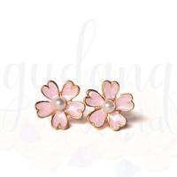 Anting Stud Wanita Simple Pink Sakura Lucu GH 203451