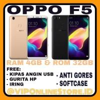 OPPO F5 RAM 4/32GB NEW GOLD&BLACK GARANSI RESMI OPPO INDONESIA 1 TAHUN