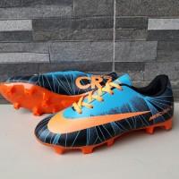 Sepatu Sepak Bola Anak Nike Mercurial CR7 Biru Oren Murah Terlaris