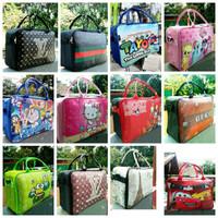 Travel bag karakter - travelbag kanvas Travelbag anak - tas anak