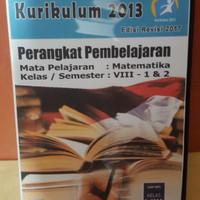 Buku Matematika Cd Rpp K13 edisi revisi 2017 mapel MATEMATIKA kls VIII