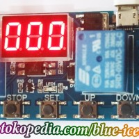 digital timer delay countdown switch detik cycle input DC max 10A