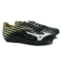 Sepatu Bola Mizuno Original Basara 104 Md Hitam Putih Emas