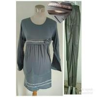 baju setelan hamil menyusui lengan panjang celana panjang kode 1286