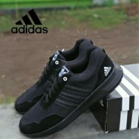 Sepatu Adidas Big Size Ukuran besar 45 46 47 hitam polos original
