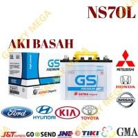 Aki Mobil NS70L Baterai Mobil Accu Mobil NS 70 L GS Premium Astra