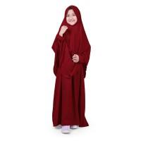 Bajuyuli - Baju Muslim Anak Perempuan Gamis Syar'i Polos Marun WSRN01