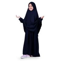Bajuyuli - Baju Muslim Anak Perempuan Gamis Syar'i Polos Navy WSNV01