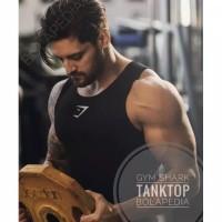 Singlet baju kaos gym fitness shark gym training pria