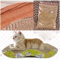 FREE CATNIP garukan kucing scratching pad papan cakaran kucing LIUK