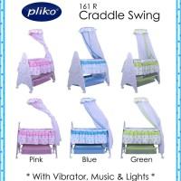 Cradle Swing Pliko 161R/Ranjang Ayun Bayi/Kasur Bayi/Box bayi Murah