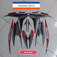 Striping Sticker Lis Motor Honda Vario Techno 125 2013 Hitam Merah
