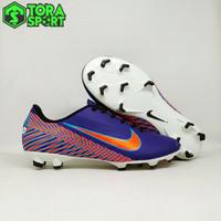 Sepatu Bola Dewasa Nike Mercurial Neymar Biru Dongker Strip Orange