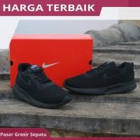 Sepatu Sekolah Casual Nike Tanjun Stefan Janoski Full Black Hitam