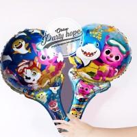 balon pentung baby shark / balon stick foil baby shark / balon tongkat