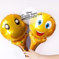 balon pentung emoji / balon stick foil emoticon / balon souvenir ultah
